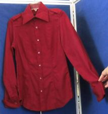 EUC Vintage 1990s GUCCI Fitted BLOUSe w.FRENCH CUFFS & Signature Buttons Sz 42-6