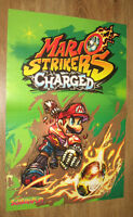 Mario Strikers Charged very rare small Poster 42x28cm