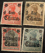 China Stamp, German Office in China, New and Lightly Hinged