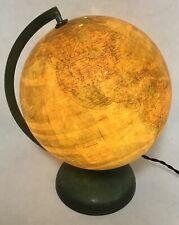 Vintage glass metal globe terrestre globus by PERRINA Paris France 1950's