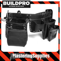 BuildPro Tool Belt Apron Premium Leather Heavy Duty Stitching LW31010