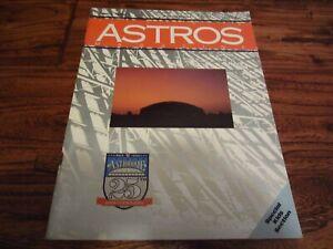 April 1990 Houston Astros Game Program Magazine Astroome 25th Anniversary