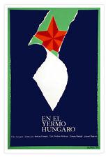 Decor Graphic Design movie Poster for Cuba film.YERMO Hungarian art.red star