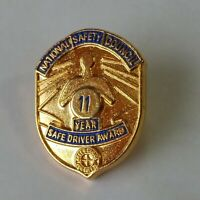 National Safety Council Sate Driver Award Lapel Hat Jacket Pin 11 Years
