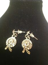 little hat studs ear rings silver plated