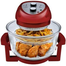 BIG BOSS 16 Qt. Countertop Oil-less Fryer Oven/Rotisserie and Convection, Red