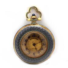 Vintage Longines 18K Gold & Enamel Open Faced Pocket Watch
