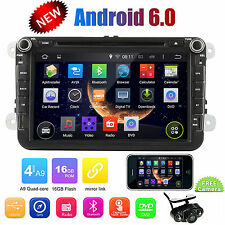 "8"" DVD GPS Navigation System Car Video Unit 2DIN Stereo Radio USB Can-bus for VW"