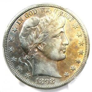 1898-O Barber Half Dollar 50C Coin - Certified PCGS AU Details - Rare Date!