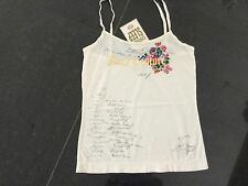 NWT Juicy Couture New & Genuine Ladies Small Cream Cotton Camisole & Juicy Logo