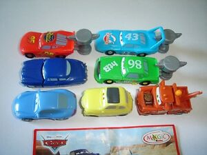 DISNEY PIXAR CARS KINDER SURPRISE FIGURES SET - FIGURINES COLLECTIBLES