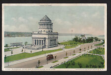 c1924 Bus on Riverside Drive & Hudson River Grants Tomb New York postcard