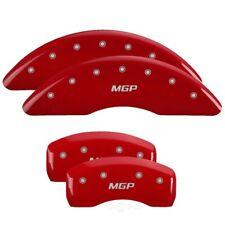 MGP 4 Caliper Covers Engraved Front & Rear MGP Red finish silver ch - mgp22186SM