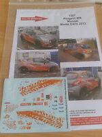 DECALS 1/18 REF 1397 PEUGEOT 208 R2 MONNET RALLYE MONTE CARLO 2013 RALLY WRC