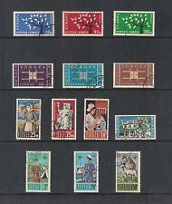 CYPRUS 1963 COMPLETE YEAR SETS EX M/S FINE USED,EUROPA,HUNGER,SCOUTS,RED CROSS
