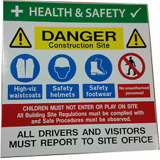 Site Safety Construction Multi-sign 500 x 500mm  Robust 5mm material!