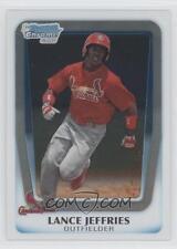 (15) 2011 11 Bowman Chrome Draft Lance Jeffries Rookie Card Lot Cardinals