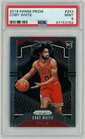 2019 Panini Prizm #253 Coby White RC Rookie Mint PSA 9 Chicago Bulls Rookie Card