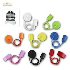 "E27 Lamp Hanger "" Silicone "" 230V,E27 Socket,80cm Textile Cable Lamp Pendant"