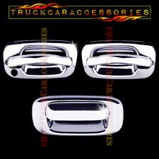 For Silverado 2000-2006 + Sierra 1999-06 Chrome Covers Set 2 Doors+Tailgate w/o