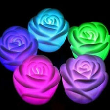 Romantic 7 Colors Changing Rose Flower Candles LED Night Light Lamps Decoration