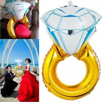 1Pc Lover Wedding Marriage Diamond Balloon Ring Engagement Foil Valentine Party