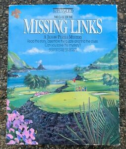 1990 THE CASE OF THE MISSING LINKS GOLF JIGSAW PUZZLE MYSTERY, 20x20, 500 PIECES