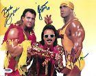 Hulk Hogan Brutus Beefcake Jimmy Hart Signed 8x10 Photo PSA/DNA WWE Mega-Maniacs