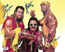 Hulk Hogan Brutus Beefcake Jimmy Hart Signed 8x10 Photo PSA/DNA WWE Mega-Maniacs