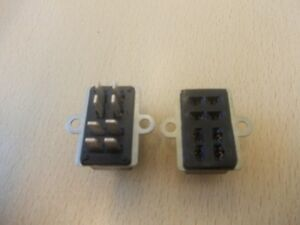 Chassis Plug And Socket Side Fixing Connector 'PAIR'  Bakelite Painton Plessey