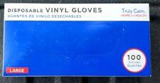 Vinyl Gloves Large Powder Free Exam, Food service, PPE,