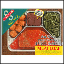 Fridge Fun Refrigerator Magnet SWANSON TV DINNER: MEATLOAF DINNER Retro Food