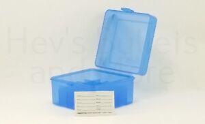 "BERRY'S PLASTIC AMMO BOX, BLUE 12 GAUGE SHOTGUN 2-3/4"" & 3"" - BUY 5 GET 1 FREE"
