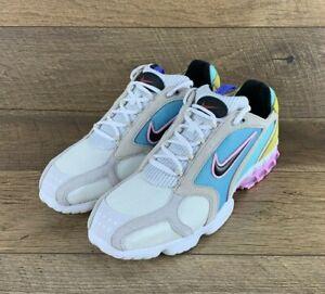 Nike Air Zoom Spiridon Cage 2 White Black Pink CW7482-100 Unisex Men 12 / W 13.5