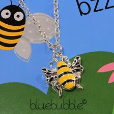 FUNKY BUMBLE BEE NECKLACE CUTE VINTAGE STYLE SWEET INSECT FUN ANIMAL RETRO GIFT