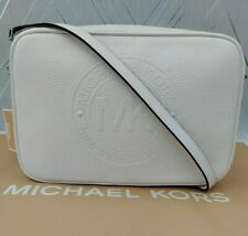 Michael Kors Genuine Leather Fulton Sport Messenger Crossbody Bag BNWT O/White