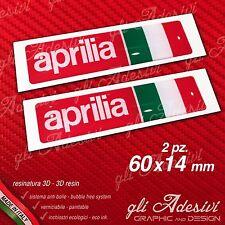 2 Adesivi Resinati Sticker 3D APRILIA Racing Italia