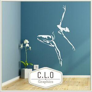 Ballet Dancer Wall Sticker Vinyl Transfer Large Dance Studio Decor Art Decal UK