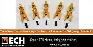 ECH 0-3THD Heavy Duty Tiger Teeth & Adapter For 0-3 Ton Excavator Pack of 5