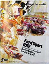 Brands Hatch fordsport giorno 26th MAGGIO 1974 MOTOR RACING PROGRAMMA UFFICIALE