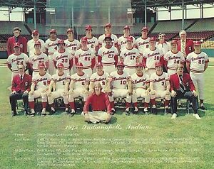 1975 INDIANAPOLIS INDIANS TEAM PICTURE 8 X 10 PHOTO