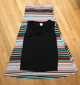 Maternity Maxi Skirt And Top Outfit, Size M