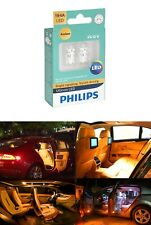 2x Philips 194 LED Amber Yellow High Power T10 5730 Light Bulbs Lamp W5W 192 168