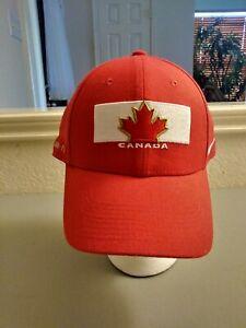 Team Canada Hockey Mens Hat Cap One Size Flexfit Nike Sochi 2014 Olympics DriFit