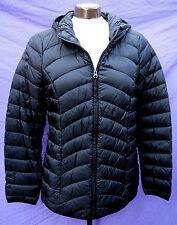 Daunenjacke Kapuze Gr.XL schwarz LAURA DI SARPI Steppjacke Daunen Jacke leicht