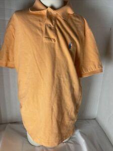 Polo by Ralph Lauren Shirt Boy Size M 10/12 Orange Short Sleeve Preppy Southern
