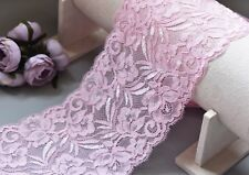 1 Yard of 15cm Wide Elastic Stretch Lace Trim Ribbon Fabric Crafts Sewing DIY