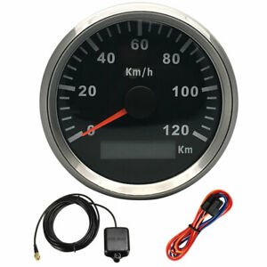 85mm 120km/h GPS Speedometer Gauge Car Boat Motorcycle Auto Waterproof Truck