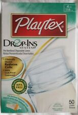 Playtex Nurser Drop-Ins Liners 4oz/118ml 50 pcs Baby Infant Feeding Milk COLIC