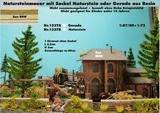 Neu für Diorama Nr.1237A Natursteinmauer mit Sockel Gerade 1:87/H0+1:72 Resin